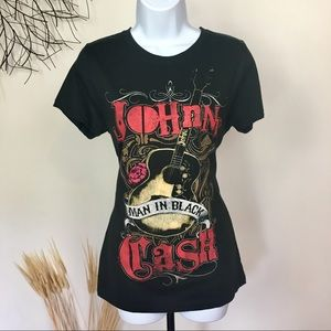 JOHNNY CASH BAND TEE. T shirt. Zion rootswear